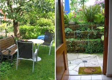 Garten und Eingang